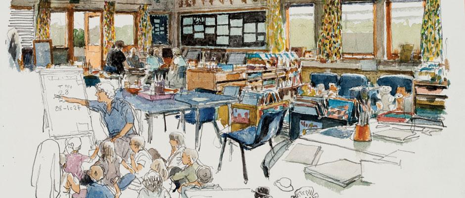 Denis Clavreul - At school